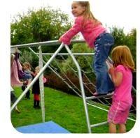 girls climbing ladder